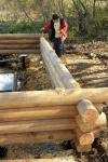 Строительство сруба над купелью